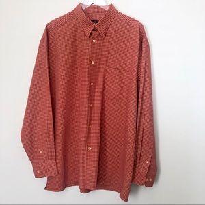 Bugatchi Uomo Bitton Front Plaid Shirt Long Sleeve